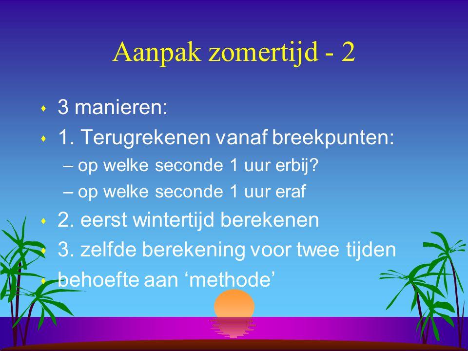 Aanpak zomertijd - 2 3 manieren: 1. Terugrekenen vanaf breekpunten: