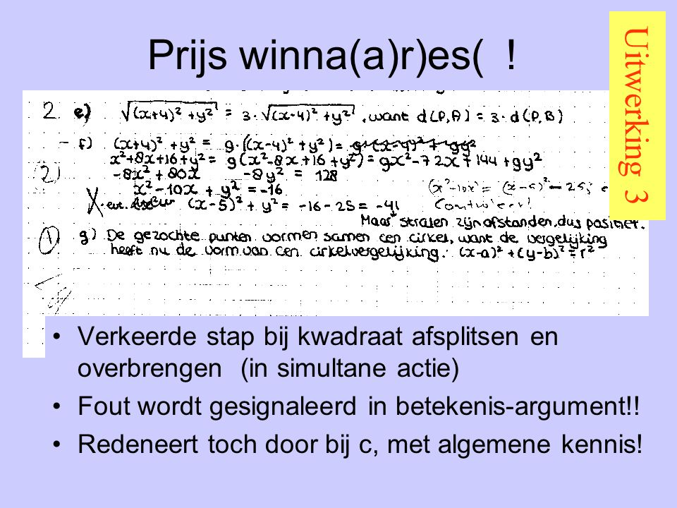 Prijs winna(a)r)es( ! Uitwerking 3