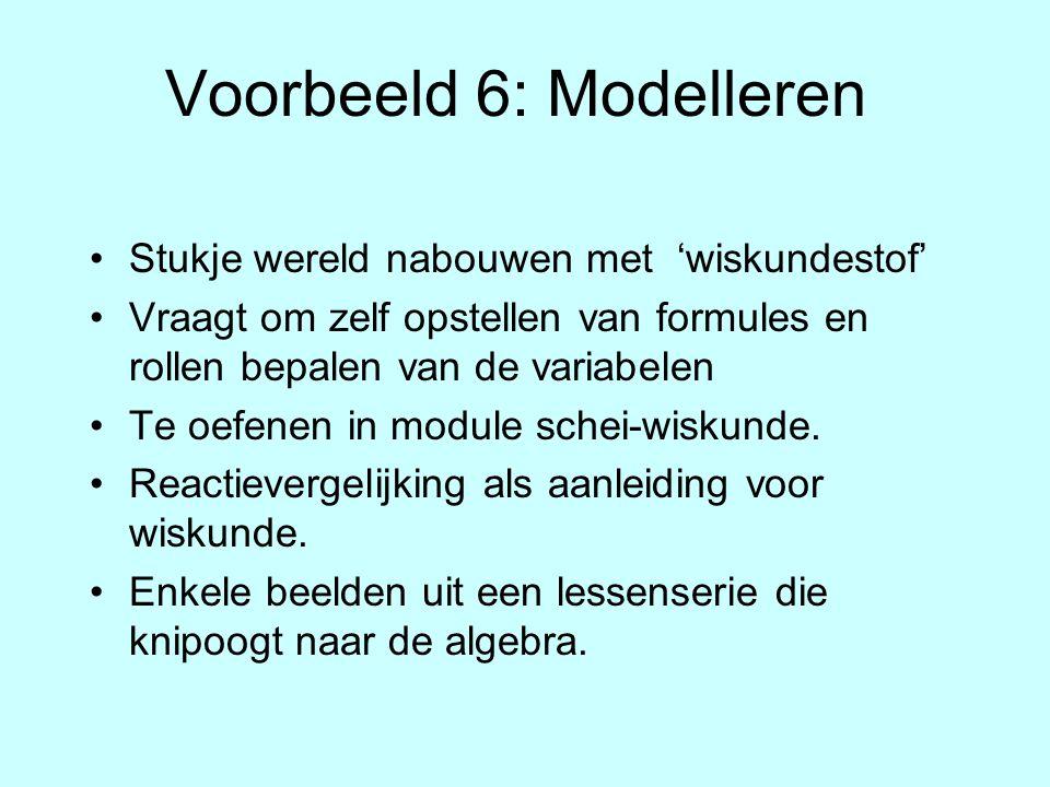 Voorbeeld 6: Modelleren