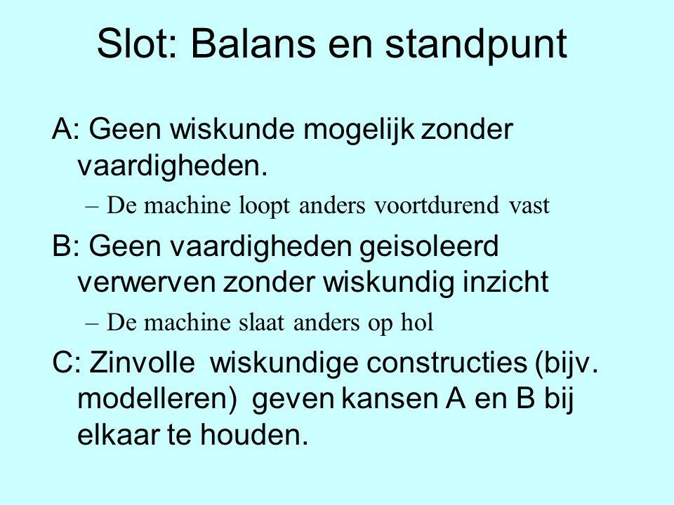 Slot: Balans en standpunt