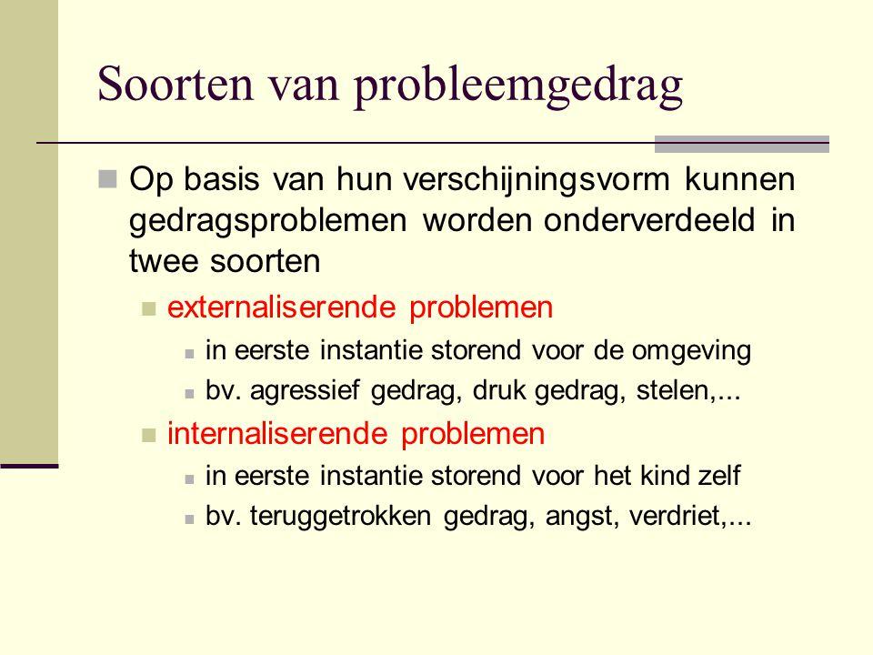 Soorten van probleemgedrag