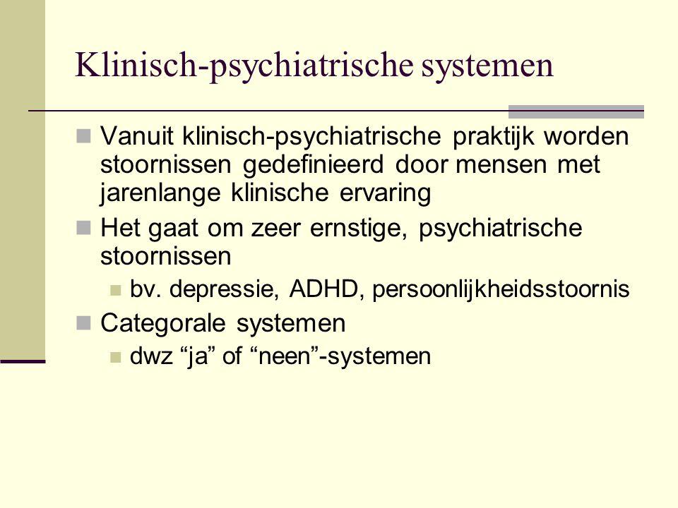 Klinisch-psychiatrische systemen