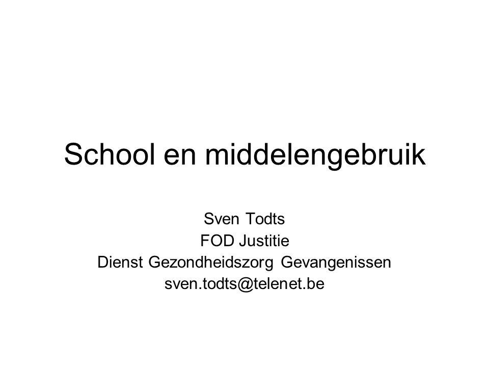 School en middelengebruik