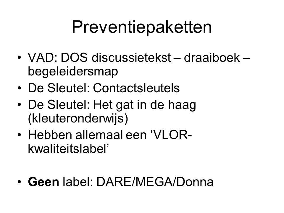 Preventiepaketten VAD: DOS discussietekst – draaiboek – begeleidersmap