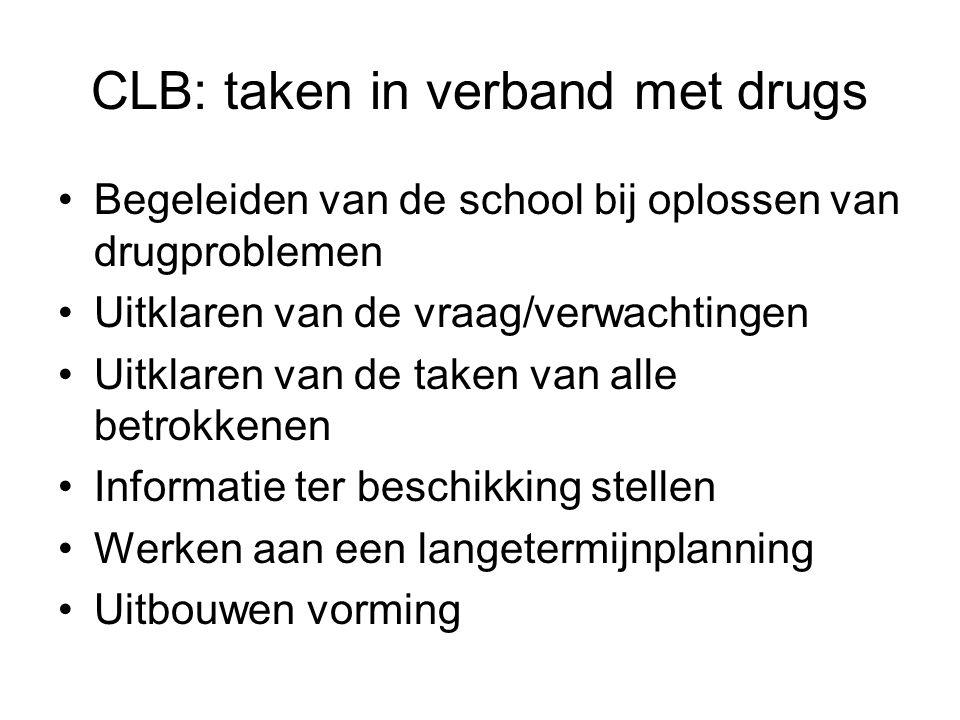 CLB: taken in verband met drugs