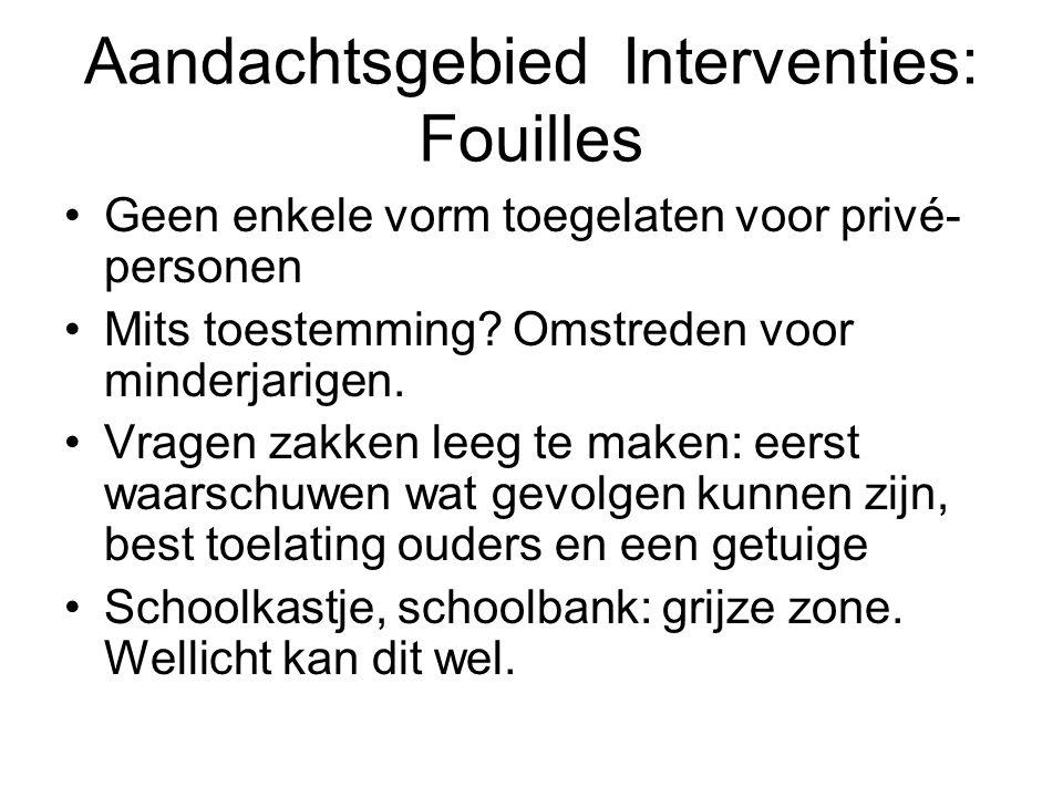 Aandachtsgebied Interventies: Fouilles