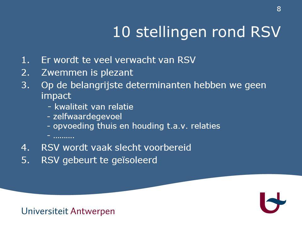 10 stellingen rond RSV Er wordt te veel verwacht van RSV