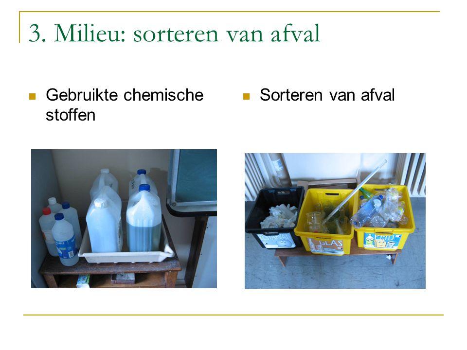 3. Milieu: sorteren van afval