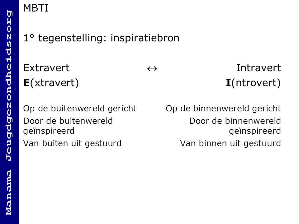 1° tegenstelling: inspiratiebron