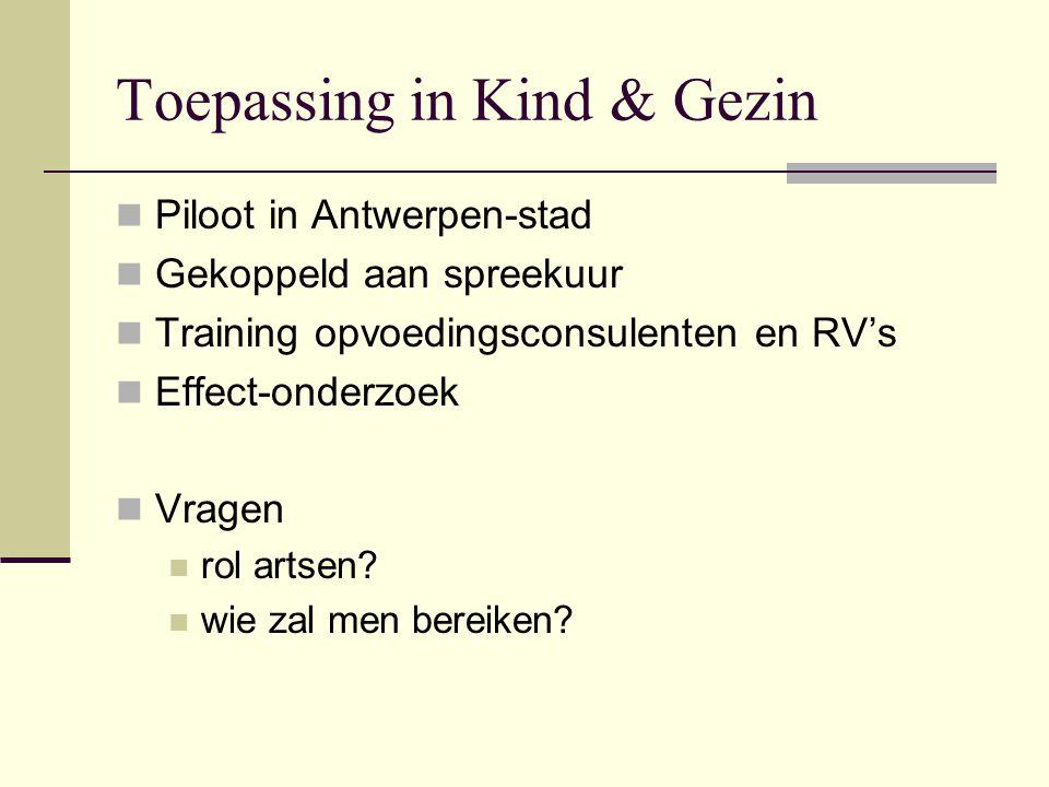 Toepassing in Kind & Gezin