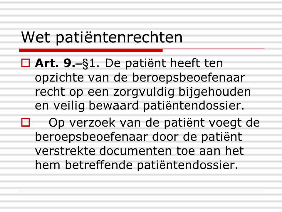 Wet patiëntenrechten