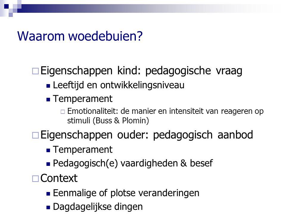 Waarom woedebuien Eigenschappen kind: pedagogische vraag