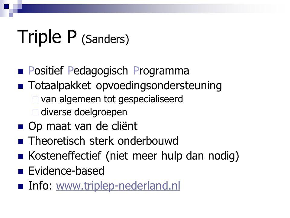 Triple P (Sanders) Positief Pedagogisch Programma