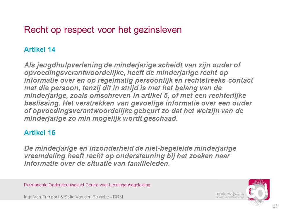 Recht op respect voor het gezinsleven