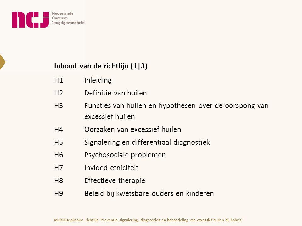 Inhoud van de richtlijn (1|3)