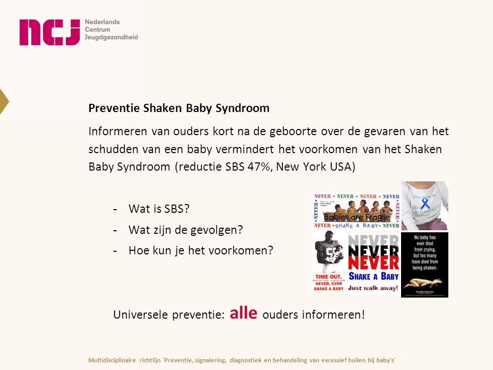 Preventie Shaken Baby Syndroom