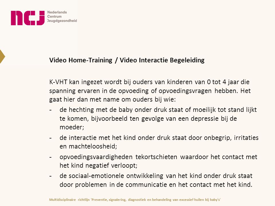 Video Home-Training / Video Interactie Begeleiding
