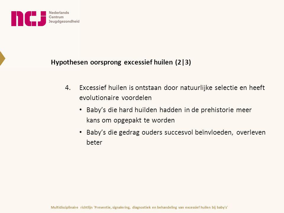 Hypothesen oorsprong excessief huilen (2|3)
