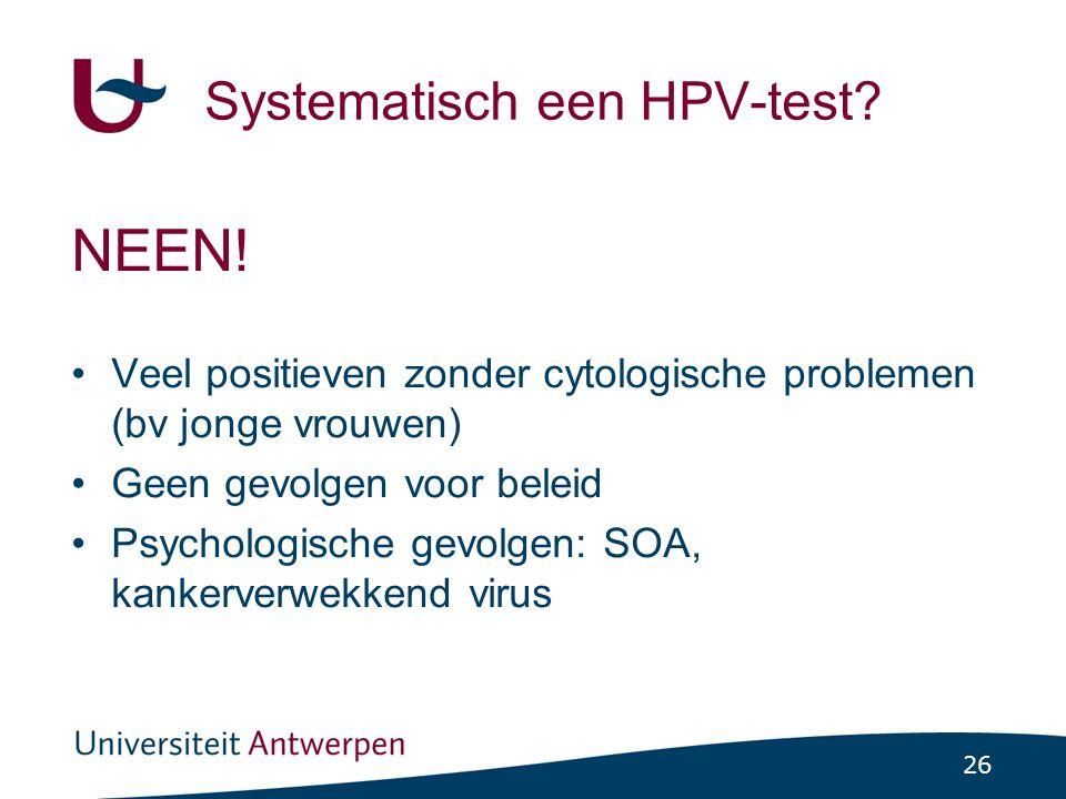 Systematisch een HPV-test
