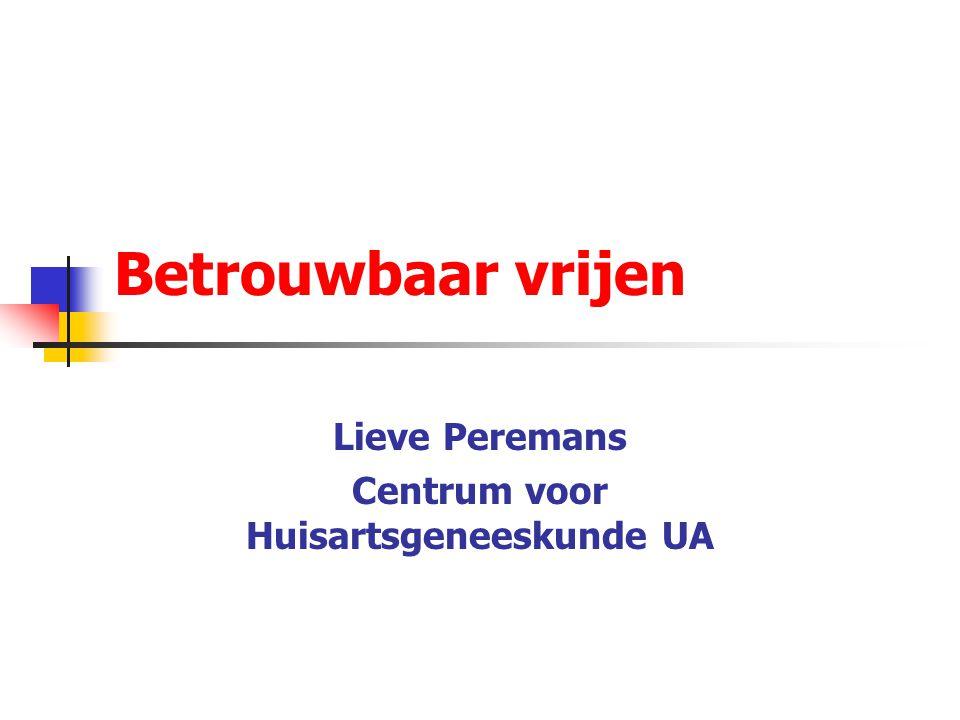 Lieve Peremans Centrum voor Huisartsgeneeskunde UA