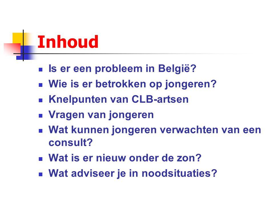 Inhoud Is er een probleem in België Wie is er betrokken op jongeren