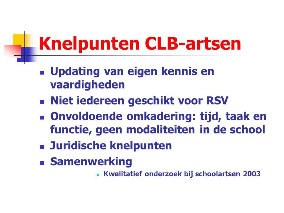 Knelpunten CLB-artsen