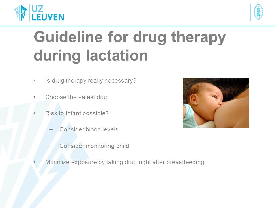 Guideline for drug therapy during lactation