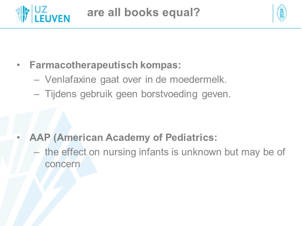 are all books equal Farmacotherapeutisch kompas: