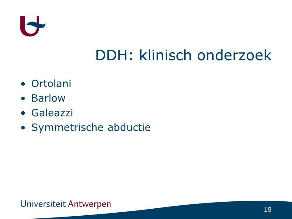 DDH: klinisch onderzoek