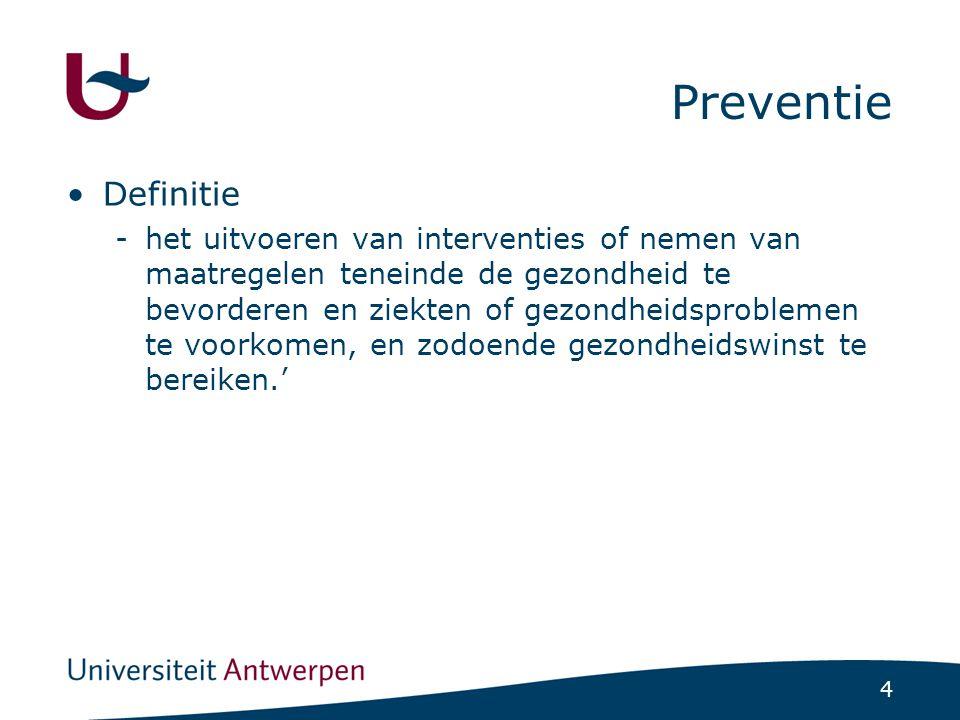 Preventie Definitie.