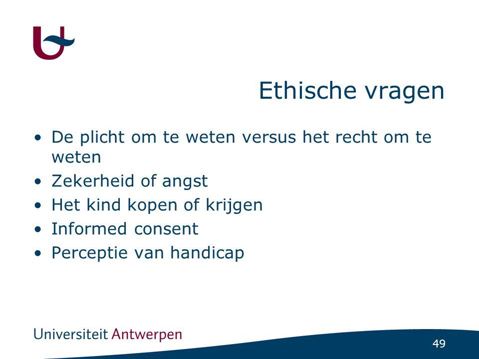 Ethische vragen De plicht om te weten versus het recht om te weten