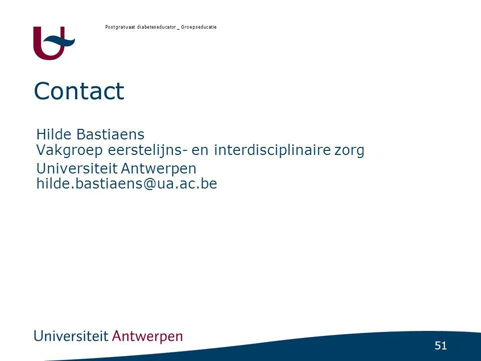 Postgratuaat diabeteseducator _ Groepseducatie