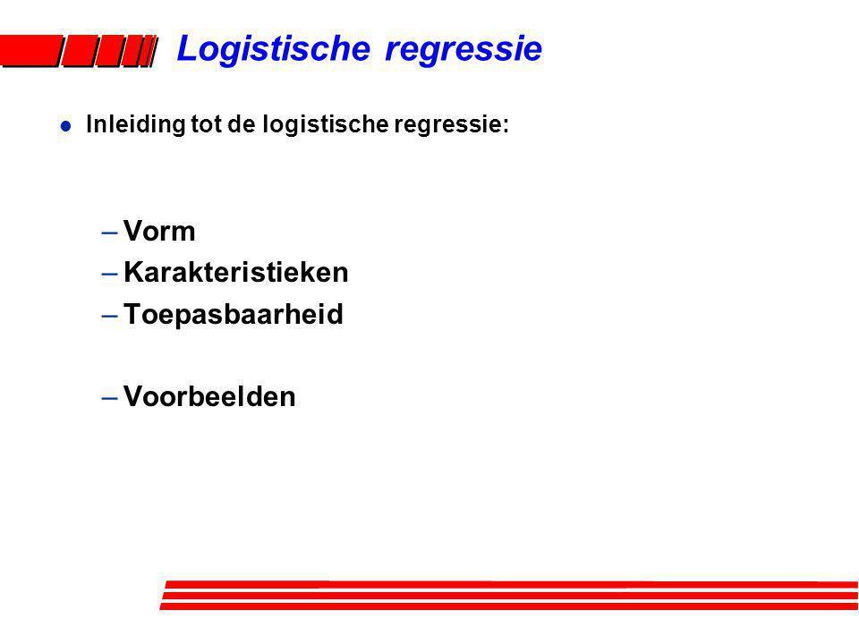 Logistische regressie