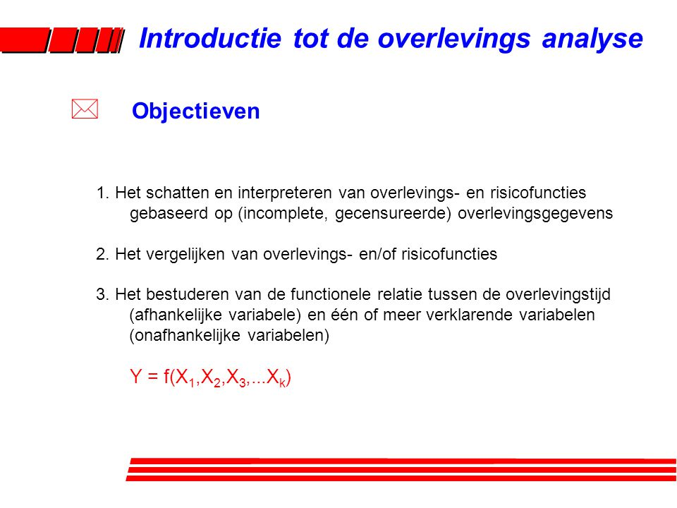 Introductie tot de overlevings analyse