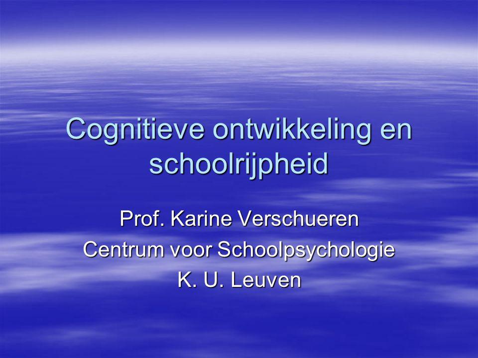 Cognitieve ontwikkeling en schoolrijpheid