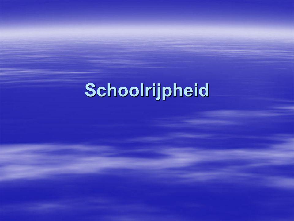 Schoolrijpheid