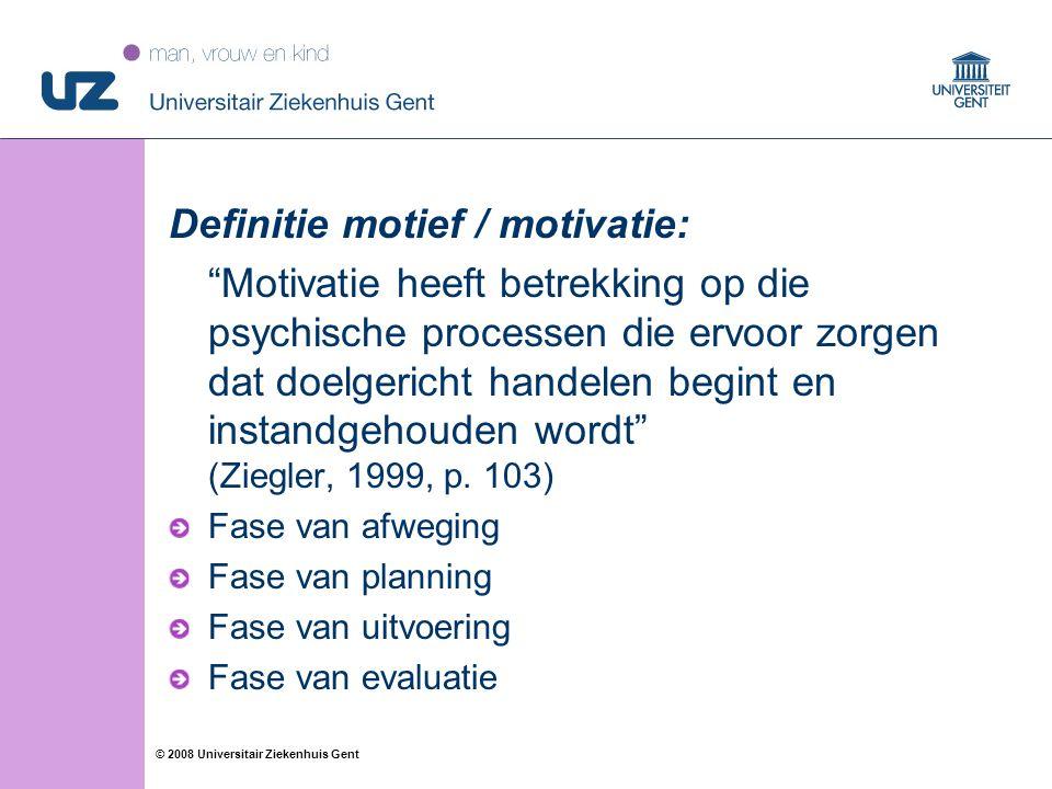 Definitie motief / motivatie: