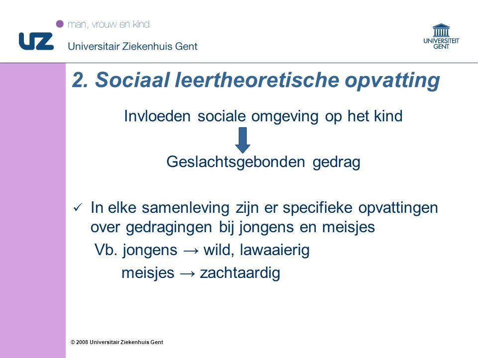2. Sociaal leertheoretische opvatting