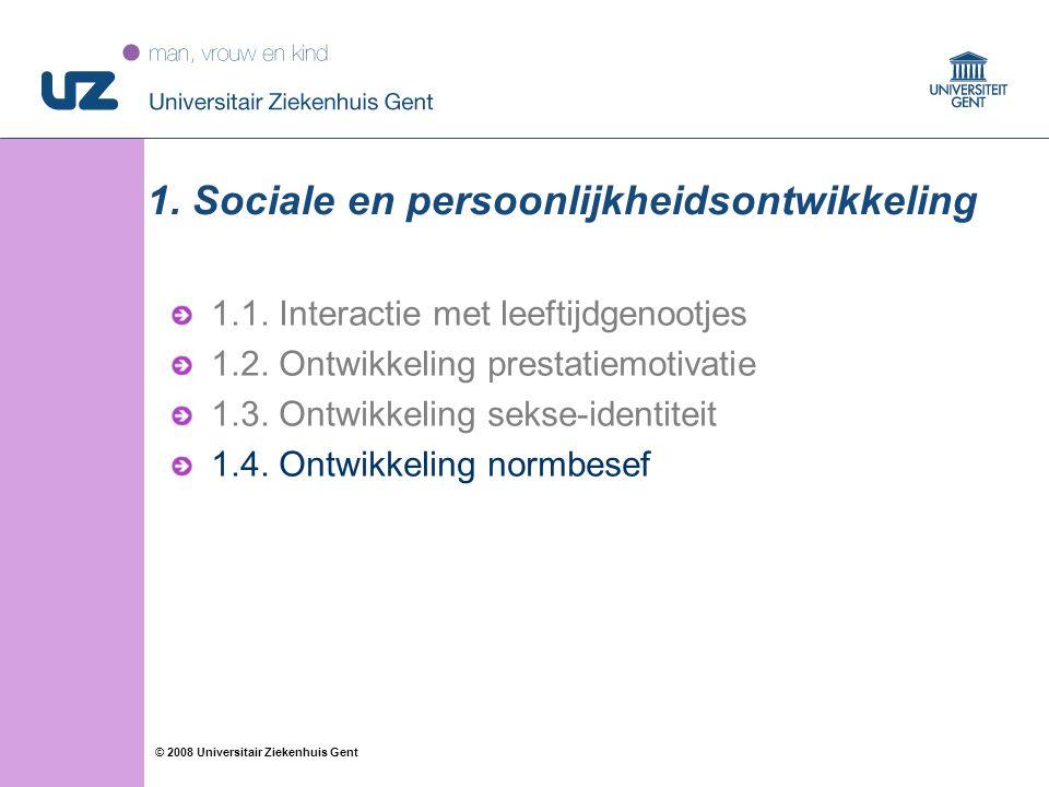 1. Sociale en persoonlijkheidsontwikkeling