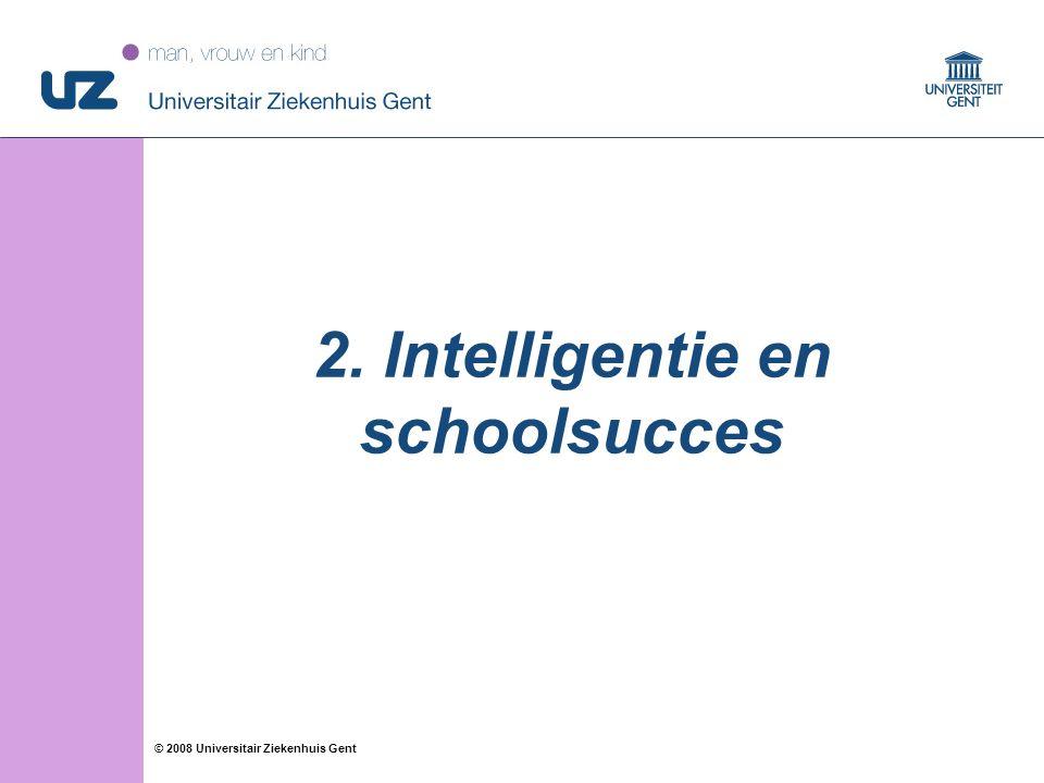 2. Intelligentie en schoolsucces
