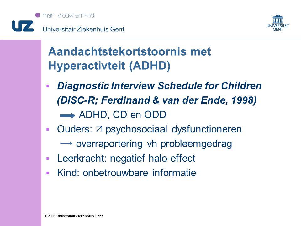 Aandachtstekortstoornis met Hyperactivteit (ADHD)