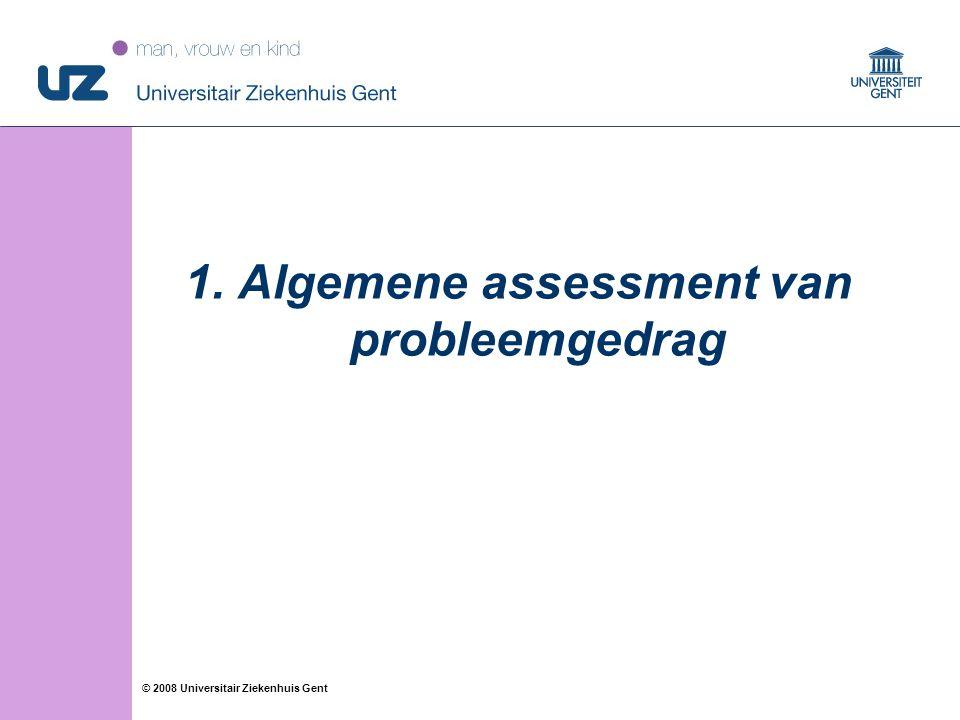 Algemene assessment van probleemgedrag
