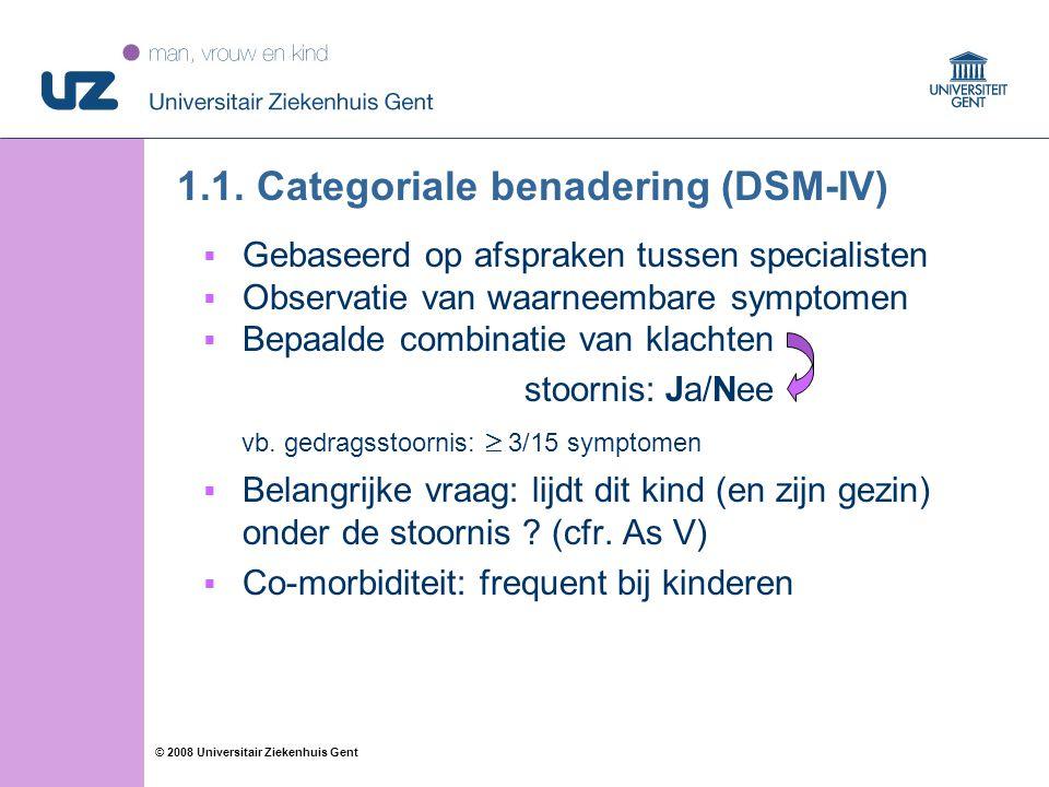 1.1. Categoriale benadering (DSM-IV)