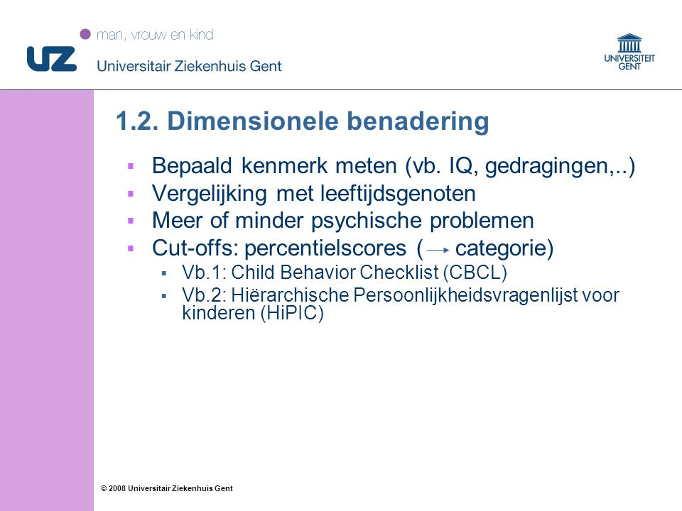 1.2. Dimensionele benadering