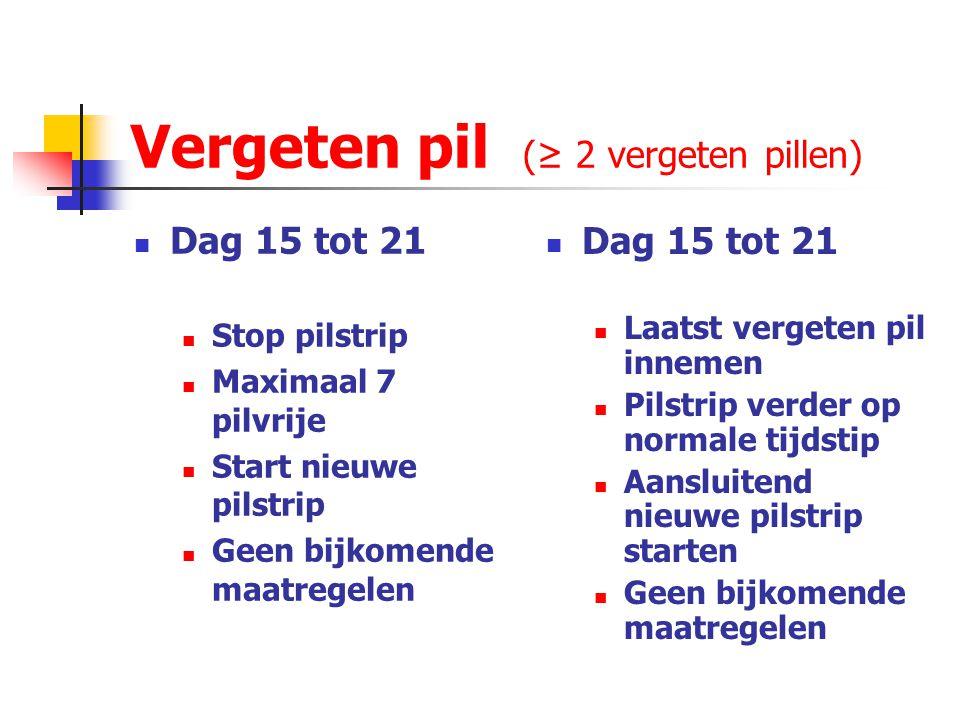 Vergeten pil (≥ 2 vergeten pillen)