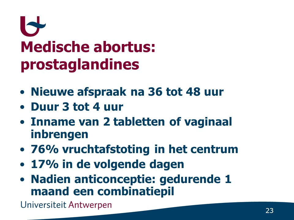 Medische abortus: prostaglandines