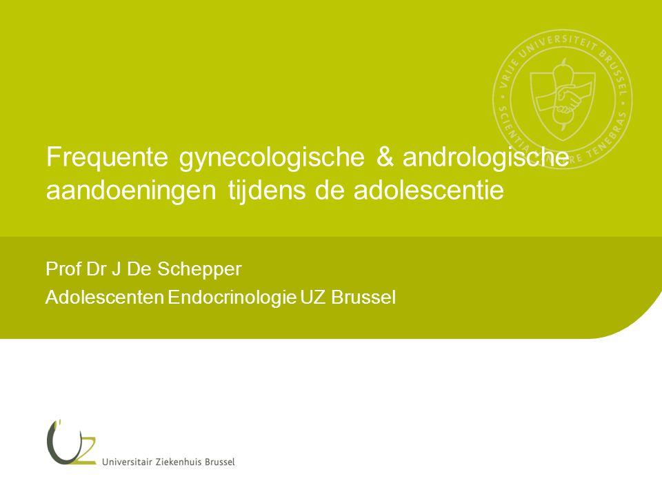 Prof Dr J De Schepper Adolescenten Endocrinologie UZ Brussel