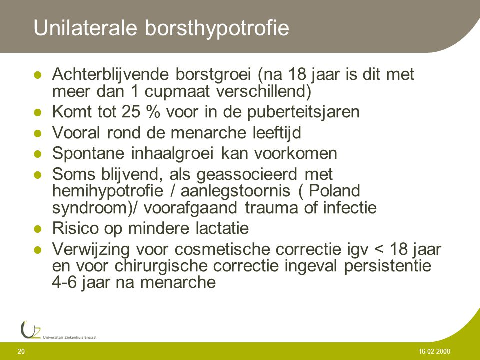 Unilaterale borsthypotrofie