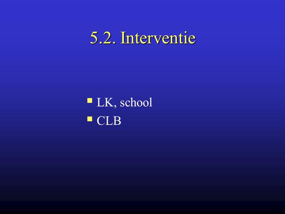 5.2. Interventie LK, school CLB