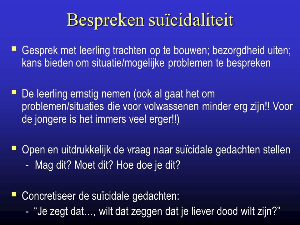 Bespreken suïcidaliteit